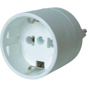 CH Adapter weiss - 3-polig - Typ13 Schuko