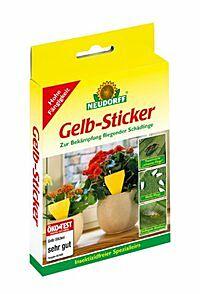 Gelb Sticker von Neudorff - 10 Stk./Pack