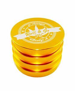 """Grinder GOLD """"Trapez""""   D 55 mm    4-teilig"""