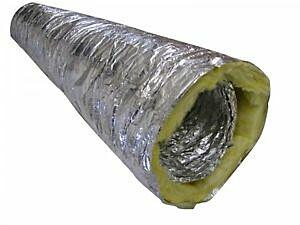Isoliertes Lüftungsrohr Sonoconnect ALU 160 mm / 10 m