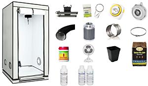 Komplett-Set 80 x 80 x 160 cm - HOMEbox AMBIENT Q80 / 0,64 m2   LED START