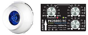 Rohr-Ventilator EC 250 / Temp/Speed Control / PrimaKlima