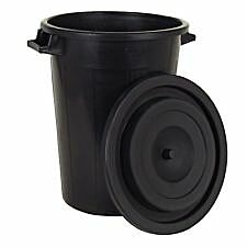 Wasserwanne schwarz 75 Liter - mit Deckel
