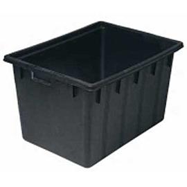 Wasserwanne PE schwarz  150 Liter   rechteckig