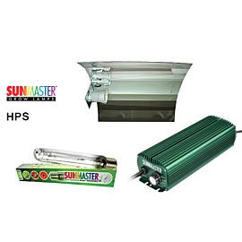 Lampenset 600W HPS Sunmaster / Glanz-Reflektorschirm