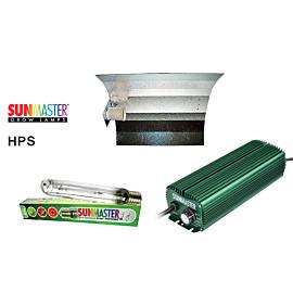 Lampenset 600W HPS Sunmaster / Hammerschlag-Reflektorschirm