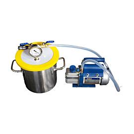 Vakuumkammer 1.6 Gallon mit Vakuumpumpe 2.5CFM